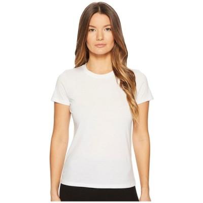 ヴィンス レディース Tシャツ トップス Essential Crew Optic White