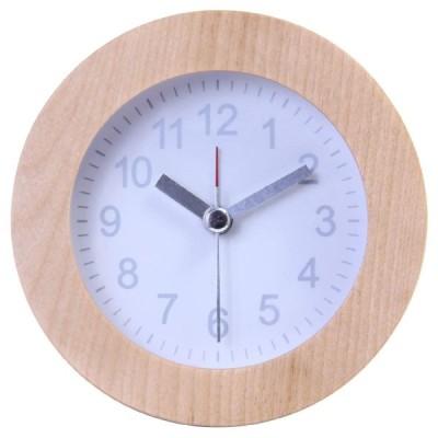 不二貿易 置時計 ウッド ラウンド WH 北海道、沖縄、離島配送不可