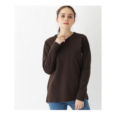 ベース コントロール BASE CONTROL 【WEB限定】長袖 ヘビーウェイトポケットTシャツ Vネック (ダークブラウン)