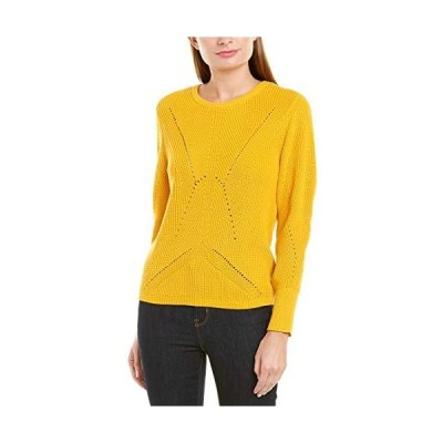 Vince Camuto Womens Laced Back Pullover Sweater, Yellow, Medium並行輸入品 送料無料