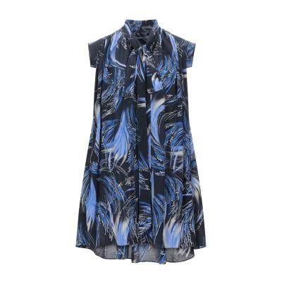 ジバンシィ GIVENCHY ミニワンピース&ドレス ダークブルー 38 シルク 100% ミニワンピース&ドレス