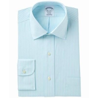brooks ブルックス ファッション ドレス Brooks Brothers Mens Shirt Dress Blue Size 16 Regent Classic Striped