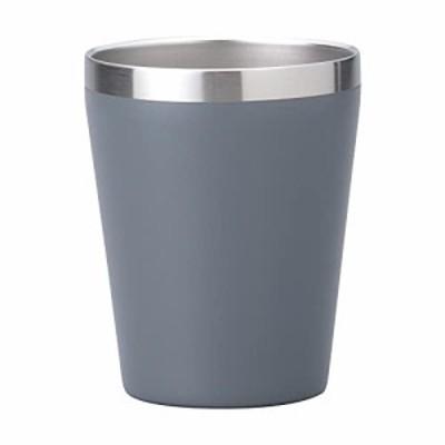 小倉陶器 真空断熱 ステンレスタンブラー 360ml 保温 保冷 二重構造 コンビニコーヒーカップ マグ (マットグレー) 約[ファイ]8.5×h10.7c