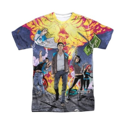 Tシャツ バリアントコミックス Harbinger Psiot Nation Valiant Comics Sublimation Licensed Adult T Shirt