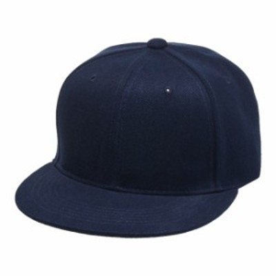 フラットバイザー スナップバック キャップ 帽子 CAP F サイズ ネイビー 無地 ユナイテッドアスレ CAB