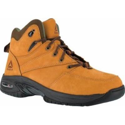 リーボック メンズ ブーツ・レインブーツ シューズ Men's Reebok Work Tyak Composite Toe Work Boot RB4327 Golden Tan