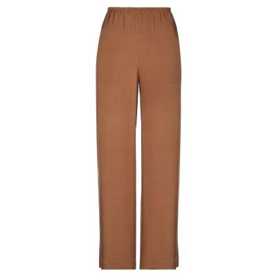 VINCE. パンツ ブラウン XL シルク 55% / レーヨン 45% パンツ
