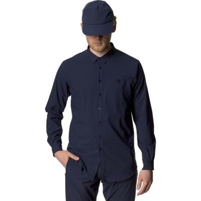 フーディニ シャツ メンズ トップス Longsleeve Shirt - Men's Blue Illusion