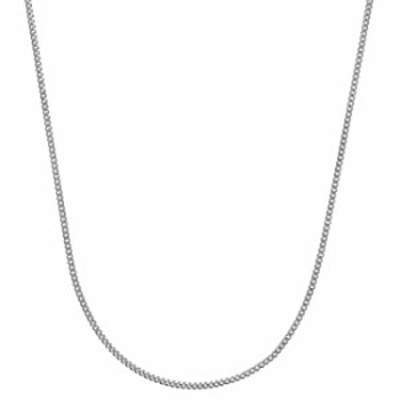 """Bling For Your Buck Sterling Silver Italian 2.1mm Diamond-Cut Cuban Curb Chain Necklace - 16"""""""