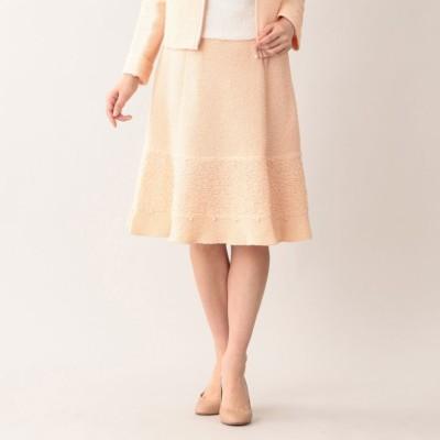 【Platine】フリルボーダーツイードスカート