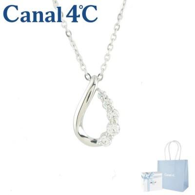 カナル ヨンドシー ネックレス canal 4℃ ペンダント 4ドシー しずくモチーフネックレス