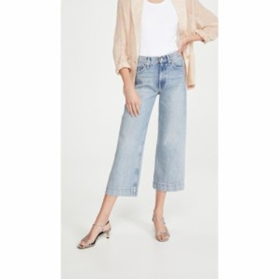 TRAVE レディース ジーンズ・デニム ワイドパンツ ボトムス・パンツ Audrey Crop Wide Leg Jeans Straight Shooter