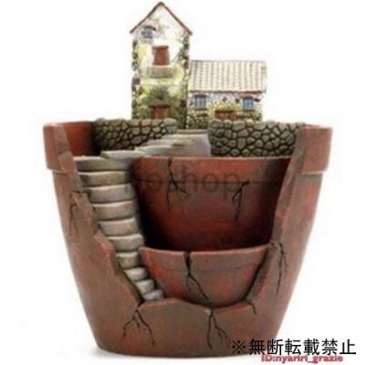 樹脂 植木鉢 庭園・風景プランター フラワーポット ガーデン装飾 送料無料 【領収発行可】