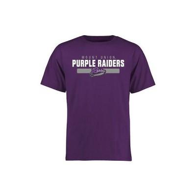 ファナティックスブランディッド カレッジ スポーツ NCAA アメリカ USA 大学 Mount Union パープル Raiders パープル Team Strong Tシャツ