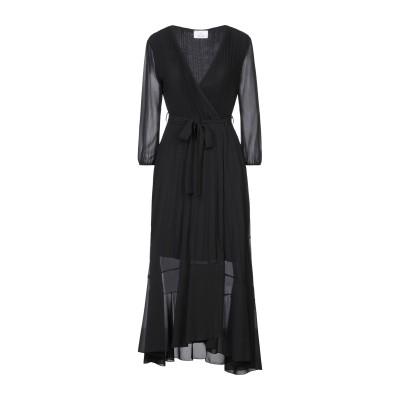 ベルナ BERNA ロングワンピース&ドレス ブラック XS ポリエステル 100% / レーヨン / ポリウレタン ロングワンピース&ドレス