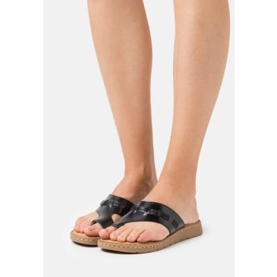 ジャナ レディース サンダル T-bar sandals - black