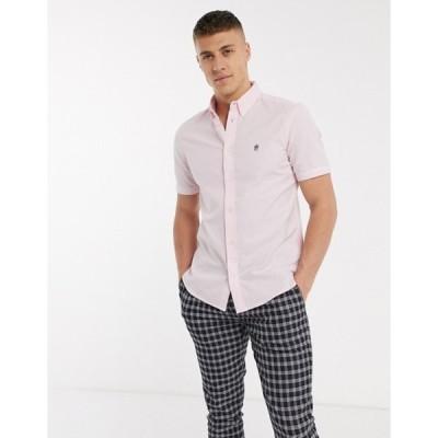 フレンチコネクション メンズ シャツ トップス French Connection oxford shirt with short sleeve in pink