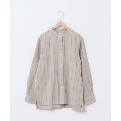 【コーエン】ウィンターリネンバンドカラーシャツ(チェック/ストライプ)#