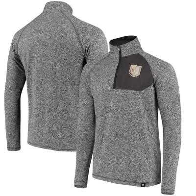 Vegas Golden Knights Fanatics Branded Static Quarter-Zip ジャケット - Heathered Gray/Black
