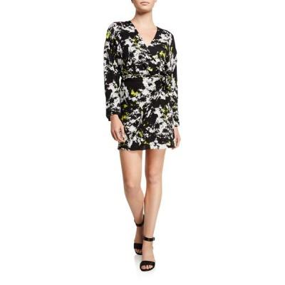 アリス アンド オリビア レディース ワンピース トップス Ophelia Drop-Shoulder Asymmetrical Dress