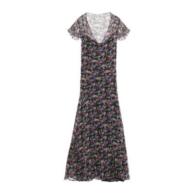 ジャストカヴァリ JUST CAVALLI ロングワンピース&ドレス ブラック 40 シルク 100% / レーヨン ロングワンピース&ドレス