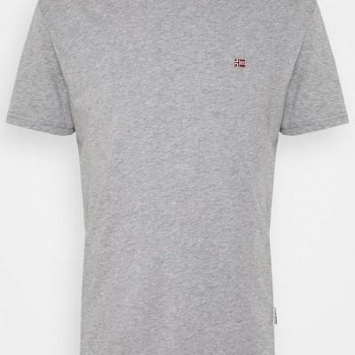 メンズ ファッション SALIS - Basic T-shirt - mottled grey