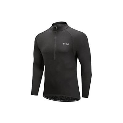 Men's Cycling Jersey, Long Sleeve Bicycle Bike Shirt, Reflective & Quick Dr