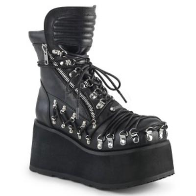 Demonia CLASH-150 $$3 1/2inch Platform Ankle Boot, Inside & Outside Zip◆取り寄せ