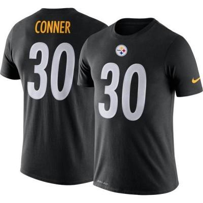 ナイキ メンズ Tシャツ トップス Nike Men's Pittsburgh Steelers James Conner #30 Logo Black T-Shirt