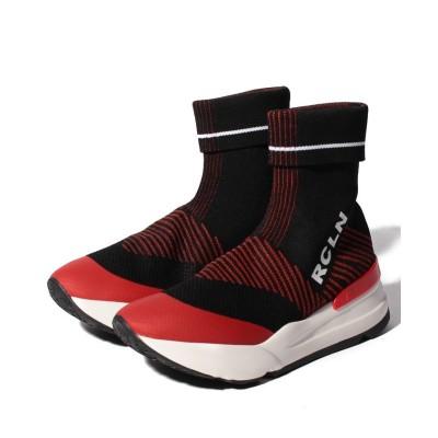 【ルコライン】 4046 MAGLIA BLACK/RED レディース BLACK/RED 35(22.5cm相当) RUCOLINE