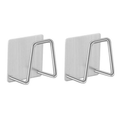 シンク用のステンレス鋼の壁掛けフック,キッチン用の粘着性の排水管ホルダー,ドリップトレイ,収納アクセサリー