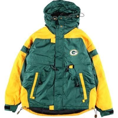 90年代 LOGO7 NFL GREEN BAY PACKERS グリーンベイパッカーズ フード収納型 中綿ジャケット メンズXL ヴィンテージ /eaa110843