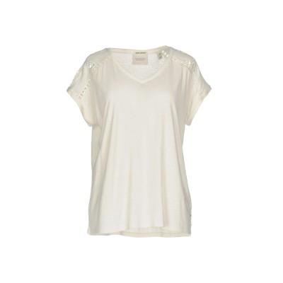 メゾンスコッチ MAISON SCOTCH T シャツ アイボリー 2 麻 55% / レーヨン 45% T シャツ
