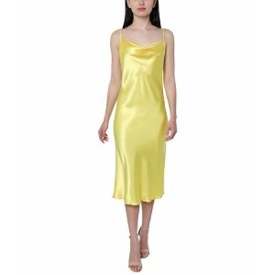 ベベ レディース ワンピース トップス Satin Slip Dress Yellow