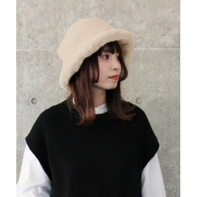 (milsa/ミルサ)milsa Eco Fur Bucket Hat/レディース ライトベージュ