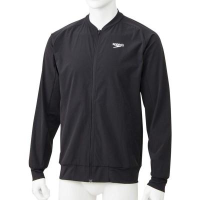 Speedo(スピード) ウエア ジャケット 長袖 メンズ スタンダードジャケット プール 水泳 デイリー SA01901 ブラック K S