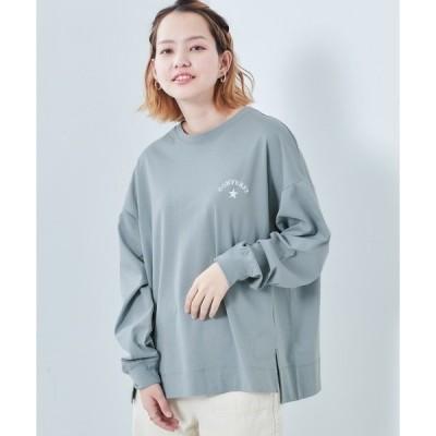 tシャツ Tシャツ 【CONVERSE】コンバース シルケットワンポイントロンTee