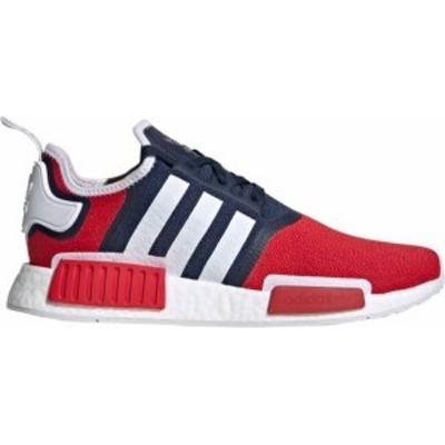 アディダス メンズ スニーカー シューズ adidas Originals Men's NMD_R1 Shoes Navy/Scarlet/White