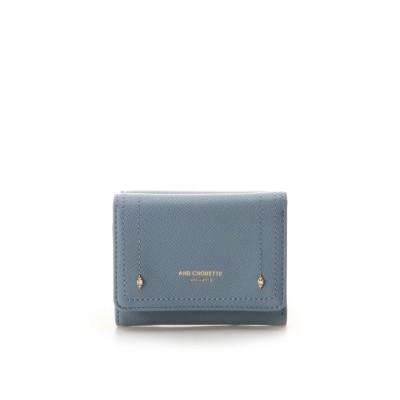 【アンドシュエット】 プチビジュー三つ折り財布 レディース ダルブルー FREE & chouette