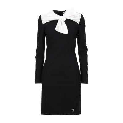 VDP COLLECTION ミニワンピース&ドレス ブラック 42 レーヨン 84% / ナイロン 11% / ポリウレタン 5% ミニワンピース