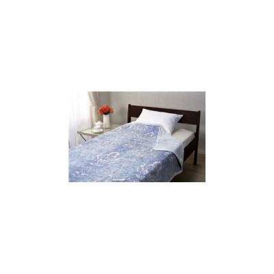 ds-1997770 綿毛布/ブランケット 【ブルー シングルサイズ】 140cm×200cm 綿100% 洗える 通年使用 日本製 『京都西川』 〔布団 ベッド〕【代引不可】
