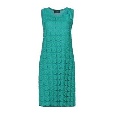 CLIPS ミニワンピース&ドレス グリーン 44 レーヨン 50% / アクリル 50% / コットン ミニワンピース&ドレス