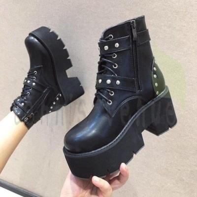 美脚効果の人気ブーティー 靴 ブーティー ブーツ ショートブーツ サイドゴア 厚底 厚底ブーツ チャンキーヒール レディース
