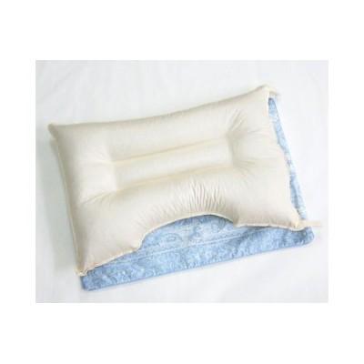 【2628-0379】信州 そば枕・枕カバー ブルー2枚付き
