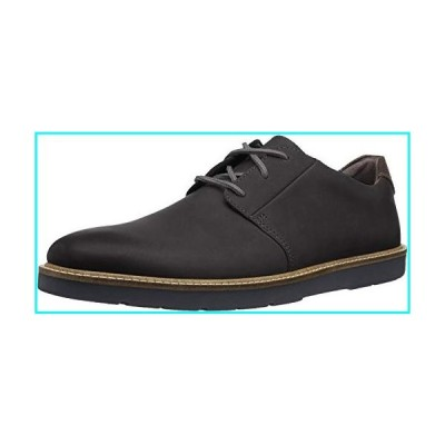 Clarks Men's Grandin Plain Oxford, Black Leather, 8.5 M US