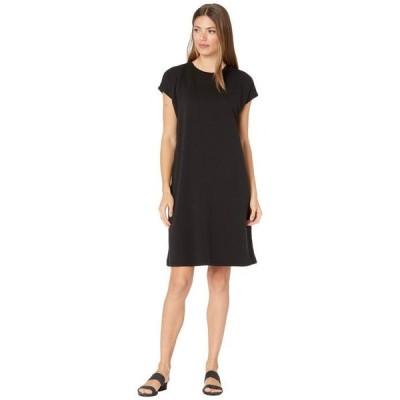 エイリーンフィッシャー レディース ワンピース トップス Tencel Organic Cotton Fleece Crew Neck Boxy Dress