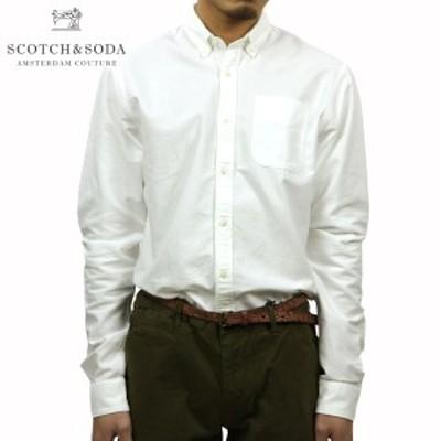 スコッチアンドソーダ シャツ メンズ 正規販売店 SCOTCH&SODA 長袖シャツ  Classic shirt in rough oxford quality 101404 06