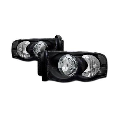 Topline Autopart Crystal Black Clear Head Lights Lamps Signal Left+Rig