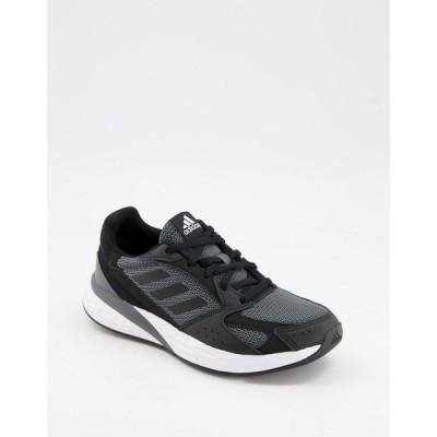 アディダス adidas performance レディース ランニング・ウォーキング シューズ・靴 adidas Running Response Run trainers in black and white ブラック