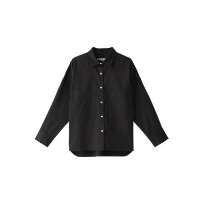 HELIOPOLE エリオポール ストレッチリネンワイドクロップドシャツ レディース ブラック 38
